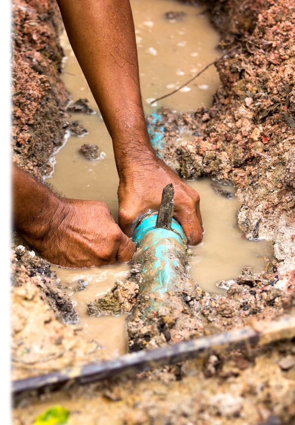 Burst water pipe image